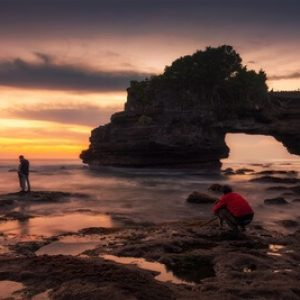 Pre wedding at Tanah lot temple Bali Indonesia
