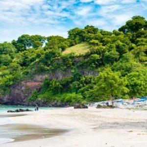 View over Bali White Sand Perasi Beach