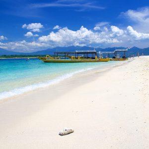White sand beach on Gili Trawangan