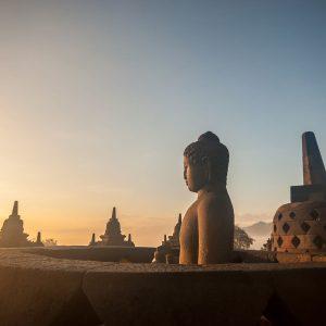 Borobudur Temple at sunrise Yogyakarta