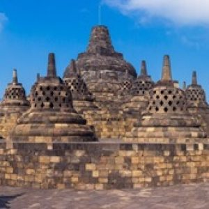 Panorama Borobudur Temple at day time Yogyakarta