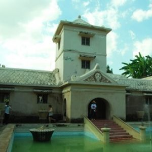 Panoramic Tamansari Water Castle in Yogyakarta
