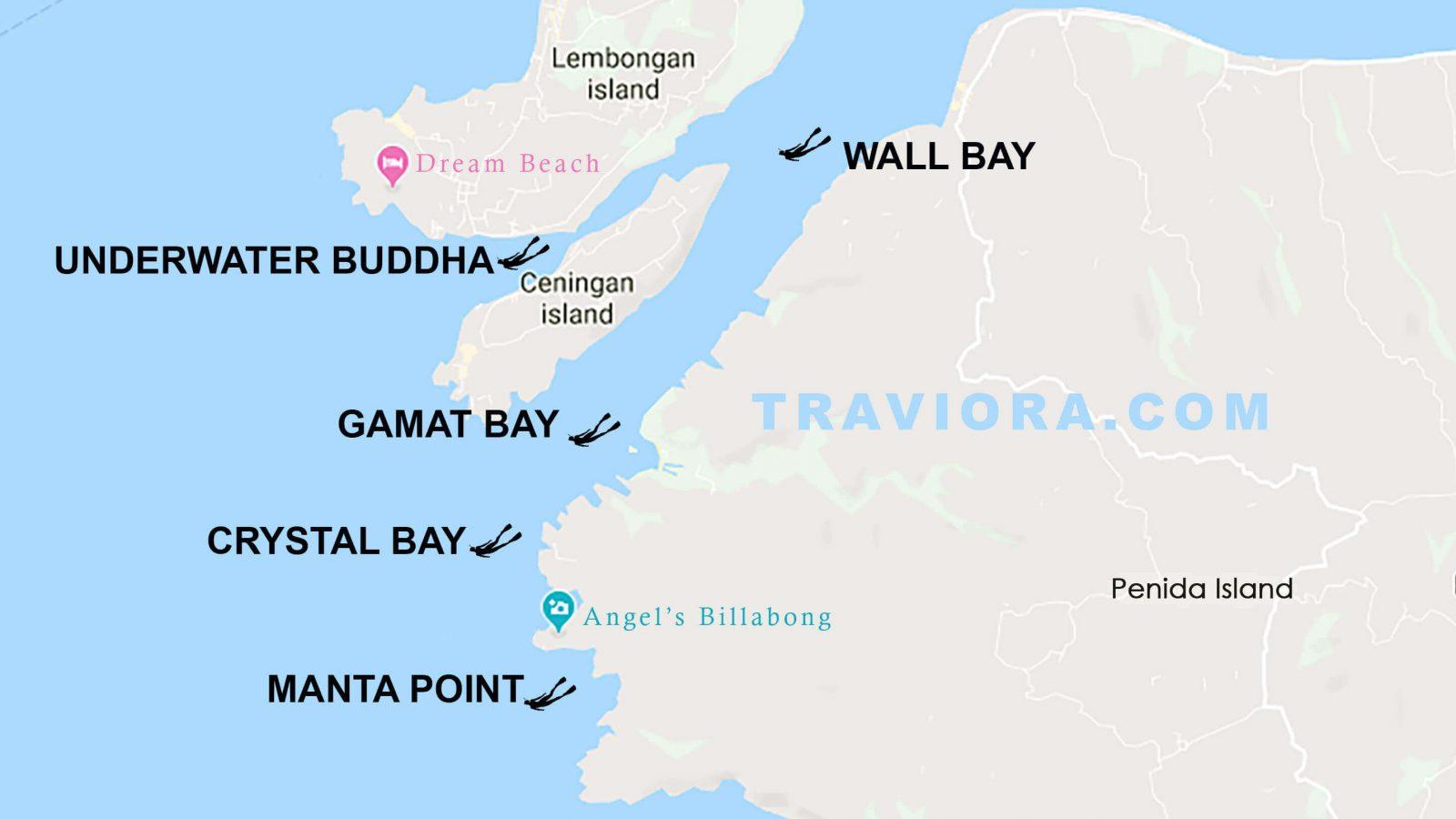 snorkeling map